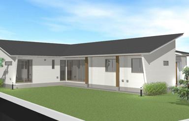 施工事例|安水建設|愛知県三河エリアの木造注文住宅・リフォームシンボルツリーを囲むプライベートガーデンの家(建築中)