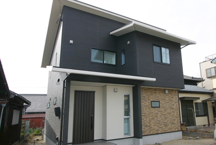 施工事例|安水建設|愛知県三河エリアの木造注文住宅・リフォームクールモダンなZEH住宅