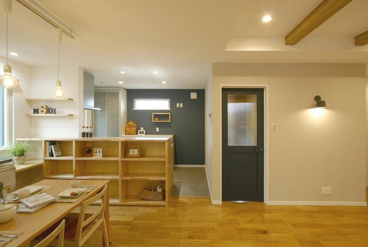 施工事例|安水建設|愛知県三河エリアの木造注文住宅・リフォーム色や素材で楽しむハンサムな木の家