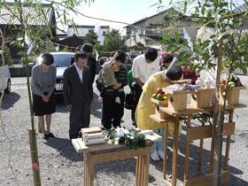 和の趣を宿すモダンな家 地鎮祭