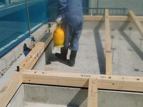 非公開: 凪の家(建築中) 防蟻工事