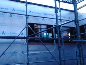 非公開: 凪の家(建築中) 外壁工事