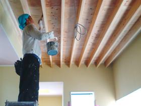 非公開: 凪の家(建築中) 塗装工事