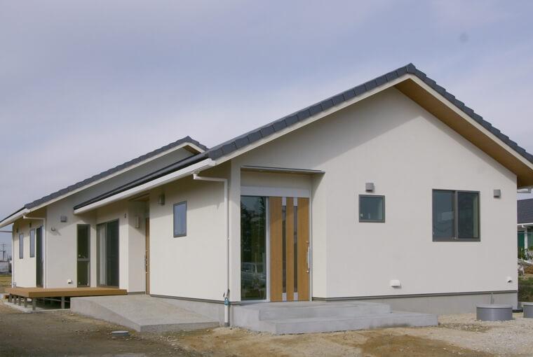 エースホーム|デザインと性能を兼ね備えた規格型住宅|安水建設自然とつながる大きなデッキのある家