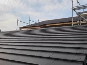 非公開: 展望デッキのある和邸(建築中) 屋根工事