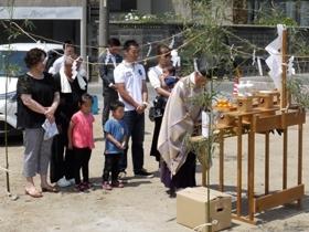 非公開: 展望デッキのある和邸(建築中) 地鎮祭