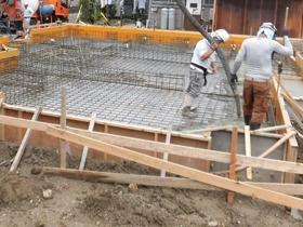 非公開: 展望デッキのある和邸(建築中) 基礎工事