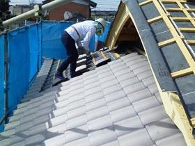 非公開: 和匠の家(建築中) 屋根工事