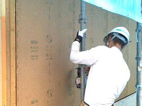 非公開: 和匠の家(建築中) 外壁工事