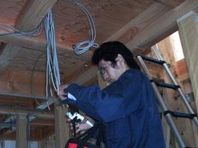 非公開: 和匠の家(建築中) 電気設備工事