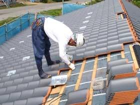 非公開: 中廊下の和邸(建築中) 屋根工事
