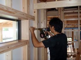 非公開: 中廊下の和邸(建築中) 木工事