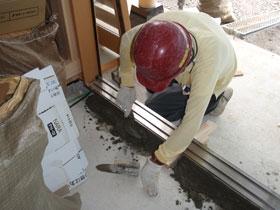 非公開: 中廊下の和邸(建築中) 左官工事