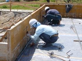 非公開: 中廊下の和邸(建築中) 基礎工事
