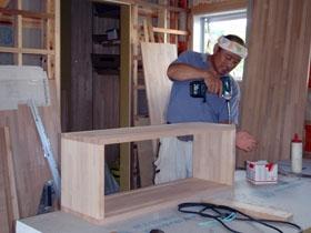非公開: 庭を囲む土間のある家(建築中) 木工事