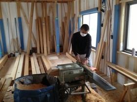 非公開: 大屋根が印象的な小川の家(建築中) 木工事