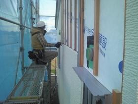 非公開: ゆるやかなNaturalBox(建築中) 外壁工事