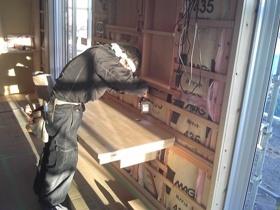 非公開: ゆるやかなNaturalBox(建築中) 木工事