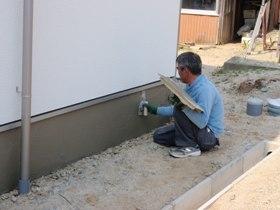 非公開: 自然素材のぬくもりが心地いい家(建築中) 左官工事