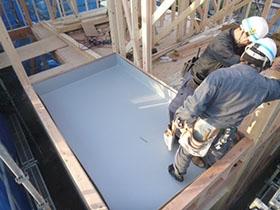 非公開: 現代感覚と和の味(建築中) 防水工事