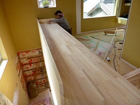 非公開: 現代感覚と和の味(建築中) 木工事