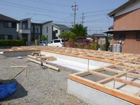 非公開: 暮らしを彩る中庭のある家(建築中) 木工事