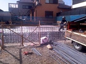 非公開: ほどよくつながったなごみの家 ~モダン二世帯住宅~(建築中) 基礎工事
