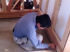 非公開: ほどよくつながったなごみの家 ~モダン二世帯住宅~(建築中) 木工事