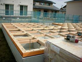 非公開: モダンな和美をみる家(建築中) 木工事
