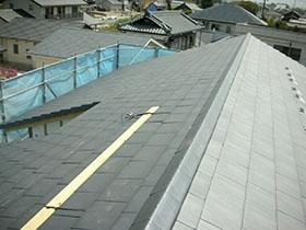 非公開: モダンな和美をみる家(建築中) 屋根工事