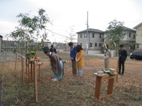 非公開: 木と、光と、風と暮らす家(建築中) 地鎮祭