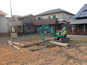 非公開: 木と、光と、風と暮らす家(建築中) 基礎工事