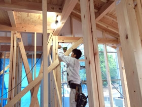 非公開: マイアートハウス(建築中) 木工事