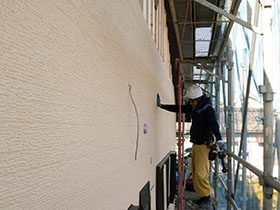 非公開: モダンの中に和漂う家(建築中) 外壁工事
