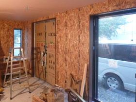 非公開: バイクガレージのある木の家(建築中) 木工事