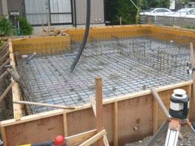 非公開: バイクガレージのある木の家(建築中) 基礎工事