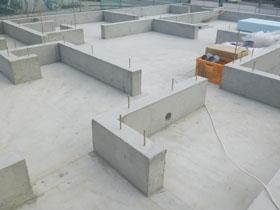 非公開: 素材を楽しむインダストリアルハウス(建築中) 基礎工事