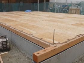 非公開: 素材を楽しむインダストリアルハウス(建築中) 木工事