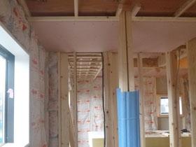 非公開: 光を呼び込むスクエア窓の家(建築中) 木工事