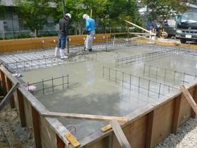 非公開: HUCKモデルハウス(建築中) 基礎工事