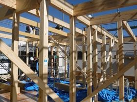非公開: HUCKモデルハウス(建築中) 上棟の様子