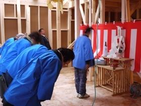 非公開: DIYを楽しむ家HUCK(建築中) 上棟式