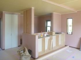 非公開: 無垢一枚板カウンターのある和邸(建築中) 木工事