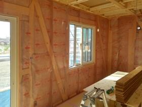 非公開: 色や素材を楽しむハンサムな木の家(建築中) 木工事