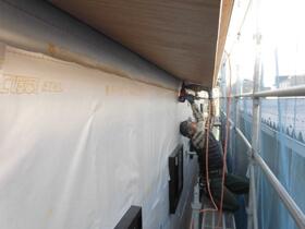非公開: 暮らしを愉しむ自然素材の平屋建て(建築中) 外壁工事