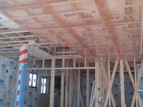 非公開: 家族が繋がる木の平屋建て(只今建築中) 木工事