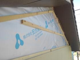 非公開: 家族が繋がる木の平屋建て(只今建築中) 外壁工事