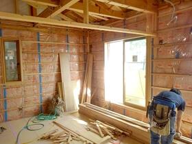 非公開: 只今建築中(家族の想いが凝縮された二世帯住宅) 木工事