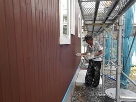 非公開: 只今建築中(フラットハウスBERET(ベレー)) 塗装工事
