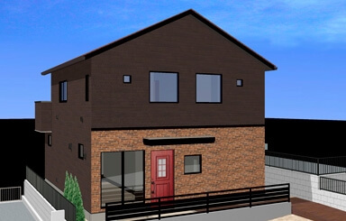 施工事例|安水建設|愛知県安城市を中心に三河エリアの木造注文住宅・リフォーム赤いドアのブルックリンスタイルサロン